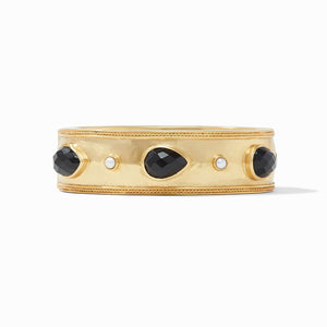 JULIE VOS CASSIS STATEMENT HINGE BANGLE - OBSIDIAN BLACK