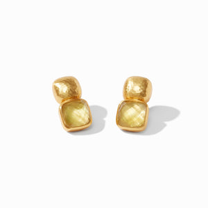 JULIE VOS CATALINA EARRING - IRIDESCENT CITRINE YELLOW