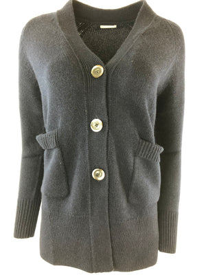 BUTTON V-NECK CARDIGAN - 3 COLOR OPTIONS