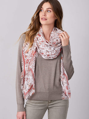 SQUARE MODAL SCARF WITH FLORAL PRINT (4588789792845)