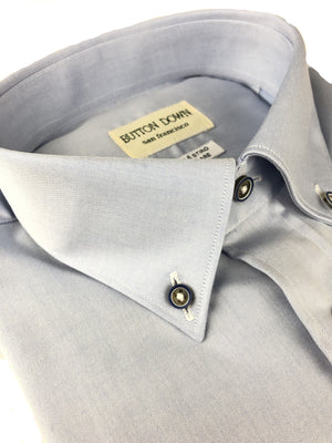 BUTTON DOWN LIGHT BLUE TWILL MEN'S SHIRT