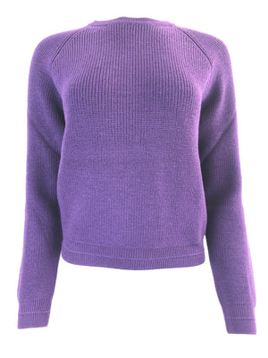BRUNO MANETTI MERINO WOOL RIB KNIT WOMEN'S SWEATER