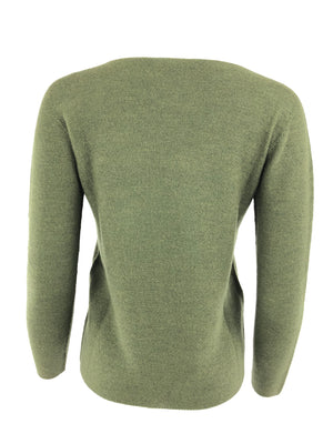 HUBERT GASSER WOMEN'S WOOL CREW NECK PULLOVER - 2 COLOR OPTIONS