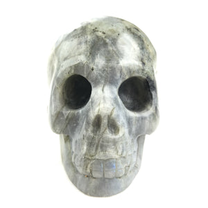 BUTTON DOWN CARVED STONE LARGE SKULL - LABORADITE