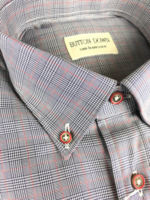 BUTTON DOWN RED CHECK MEN'S SHIRT