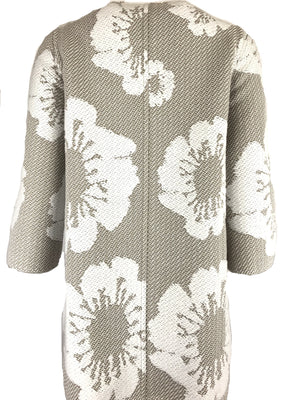 BRUNO MANETTI TONAL FLORAL WOMEN'S JACKET - TAUPE & WHITE