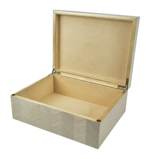 TIZO DECORATIVE BOX - TAUPE CHEVRON