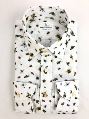 EMANUEL BERG FRIENDLY BUGS PRINT MEN'S SHIRT