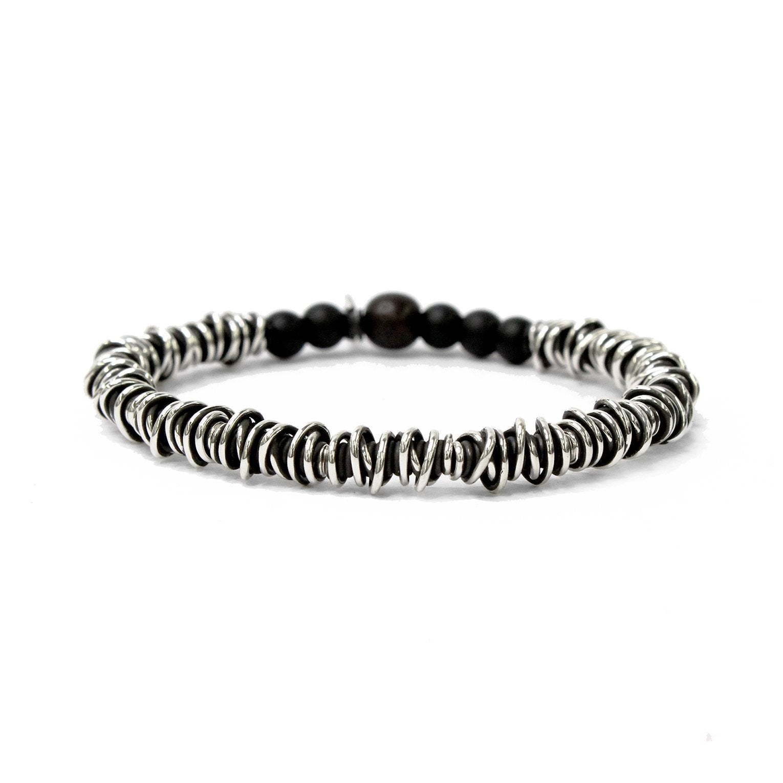 KENTON MICHAEL STERLING WIRE WRAP BRACELET