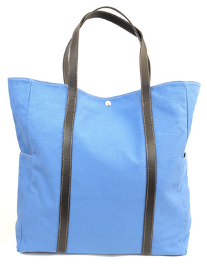 CALABRESE 1924 CANVAS TOTE BAG WITH ITALIAN LEATHER TRIM - 3 COLOR OPTIONS