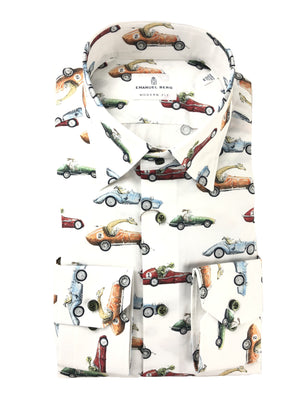 EMANUEL BERG ANIMAL DRIVERS PRINT MEN'S SHIRT