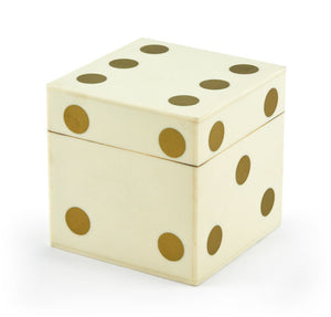 TIZO BONE DICE BOX - GOLD