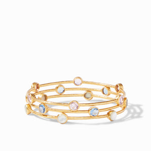 JULIE VOS MILANO BANGLE - CLEAR CRYSTAL