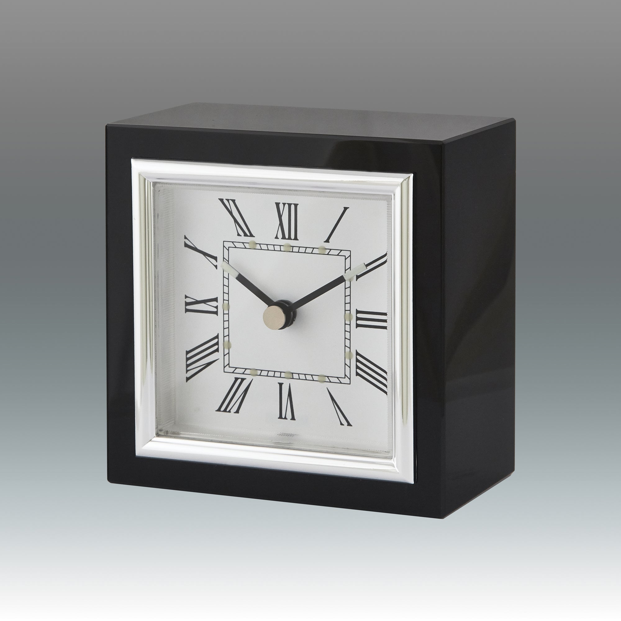 TIZO SQUARE BLACK CLOCK