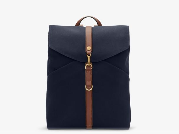 MISMO M/S RUCKSACK - MIDNIGHT BLUE/LEATHER