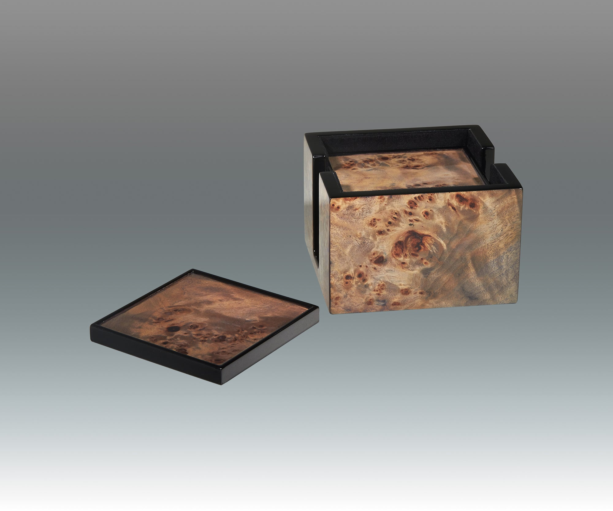 TIZO BLUE BURL COASTER SET