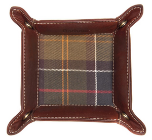 BARBOUR TARTAN & LEATHER VALET TRAY IN GIFT BOX REG PRICE $75, NOW $55.00 (4579948724301)