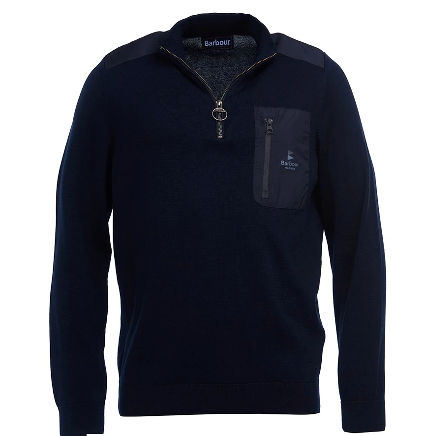 BARBOUR ALMARINE HALF ZIP MEN'S SWEATER (4580034117709)