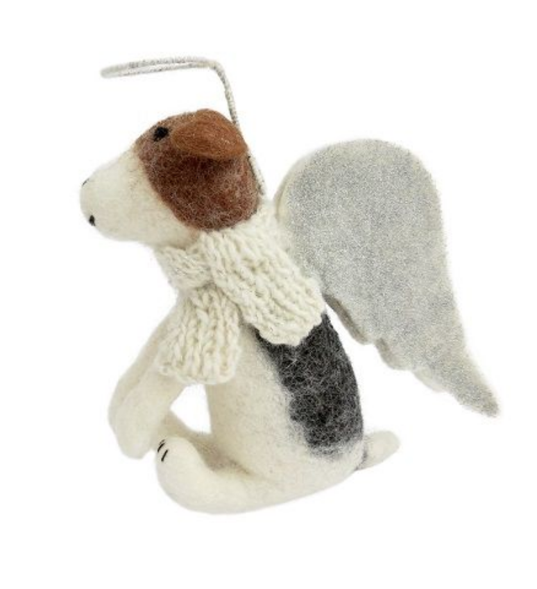 AMICA FELT FOX TERRIERS TREE TOPPER