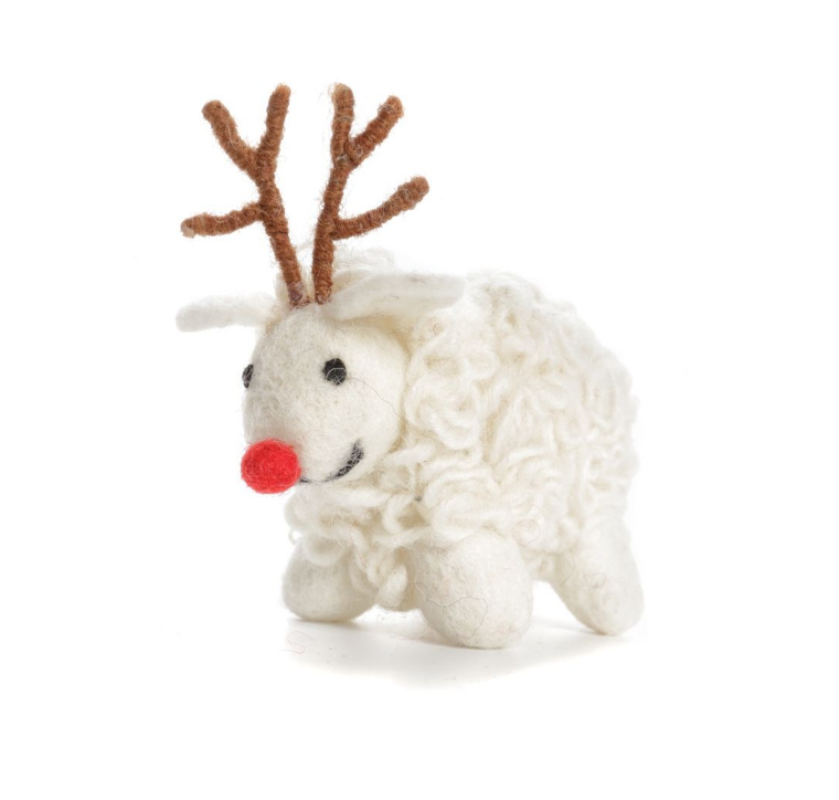 AMICA FELT SHEEP WITH ANTLERS