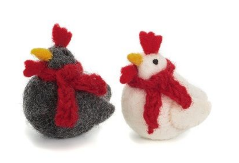 AMICA FELT MINI CHRISTMAS CHICKENS