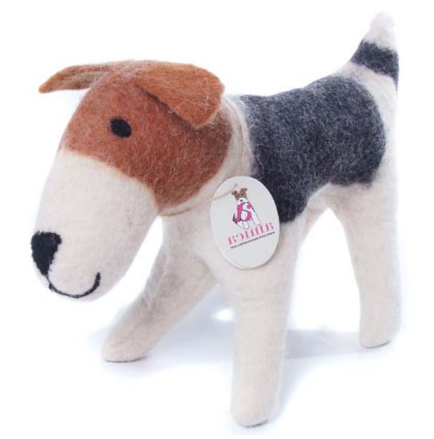 AMICA FELT FREDDIE THE FOX TERRIER