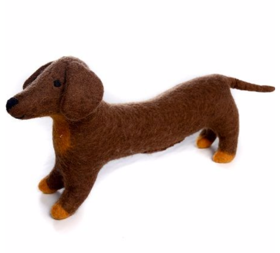 AMICA FELT FRANKIE THE LONG SAUSAGE DOG