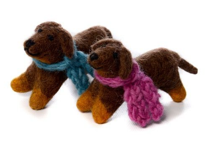 AMICA FELT MINI SAUSAGE DOG