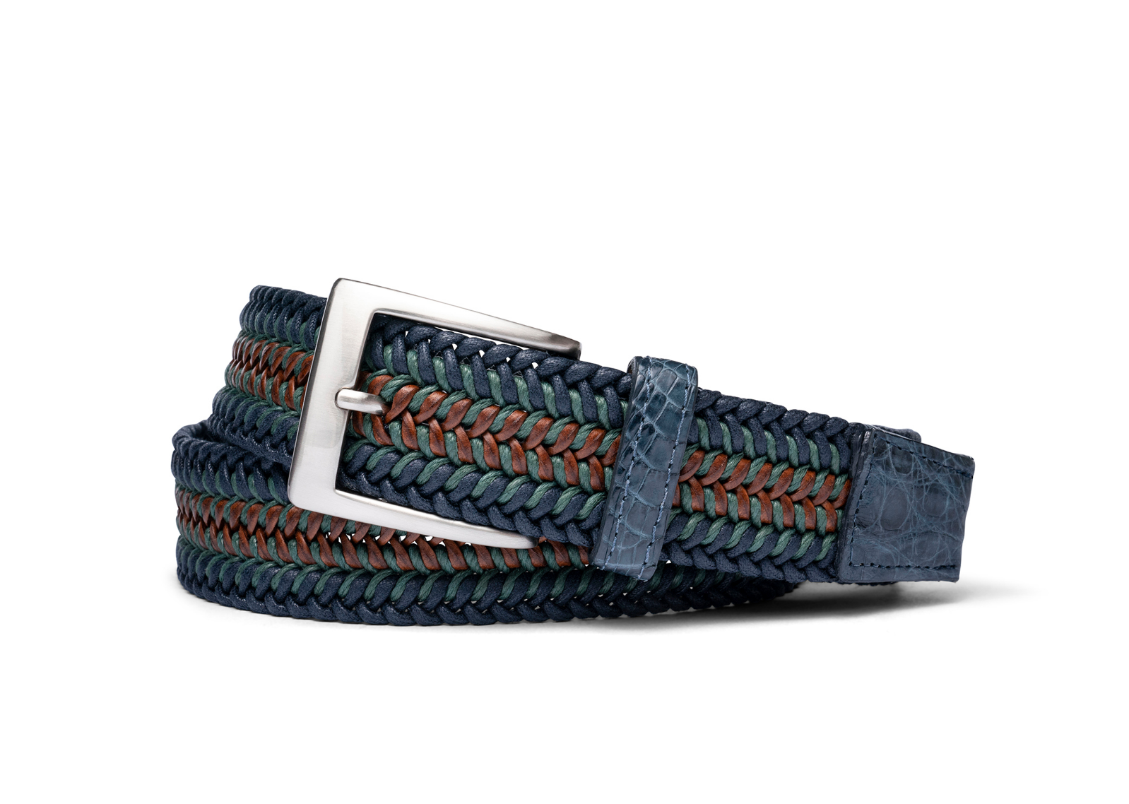 W.KLEINGBERG MONTANA STRETCH BELT - BLUE