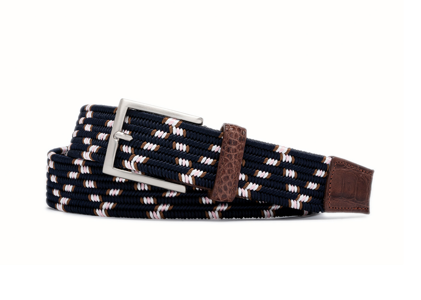 W.KLEINGBERG HARTFORD STRETCH BELT - NAVY