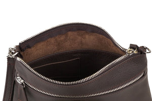 ORSYN SYDNEY CROSSBODY BAG - BLACK PEBBLE GRAIN