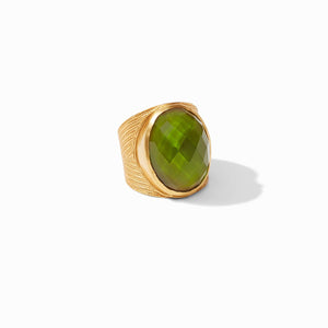 JULIE VOS VERONA STATEMENT RING - IRIDESCENT JADE GREEN
