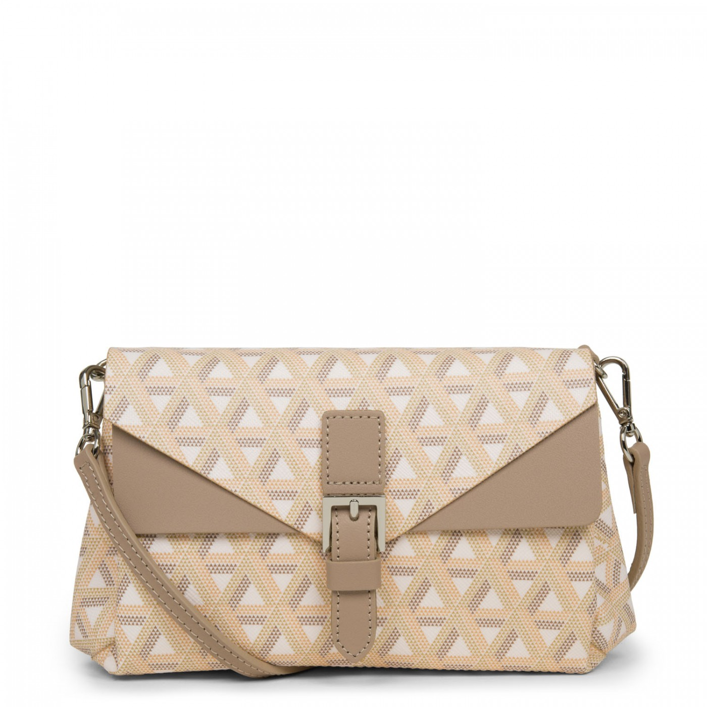 LANCASTER IKON SMALL CROSSBODY BAG - BEIGE