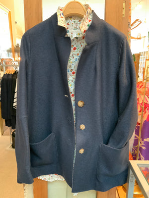 BLUE NAVY ICONS OVERSIZE JACKET IN WOOL (4586183655501)