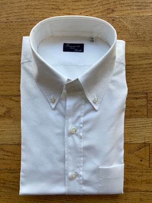 Finamore White Solid Shirt (4577095581773)