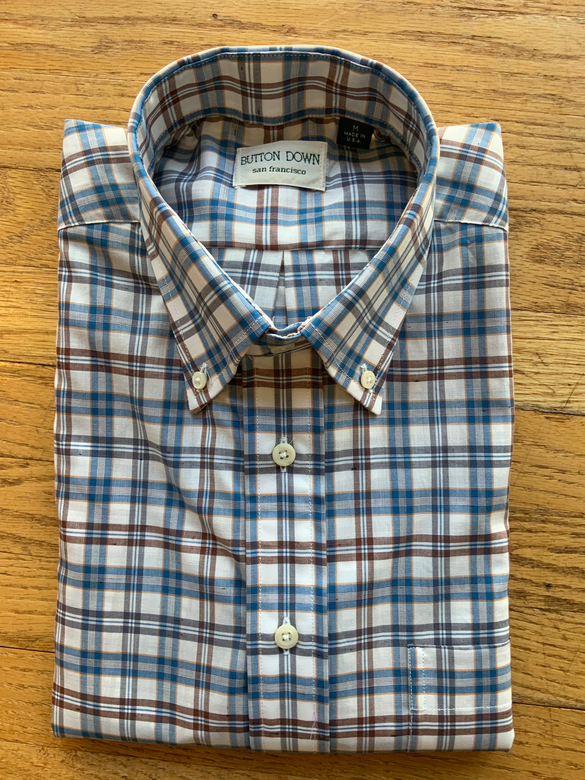 Teal/Brown Check Sport Shirt (4580416651341)