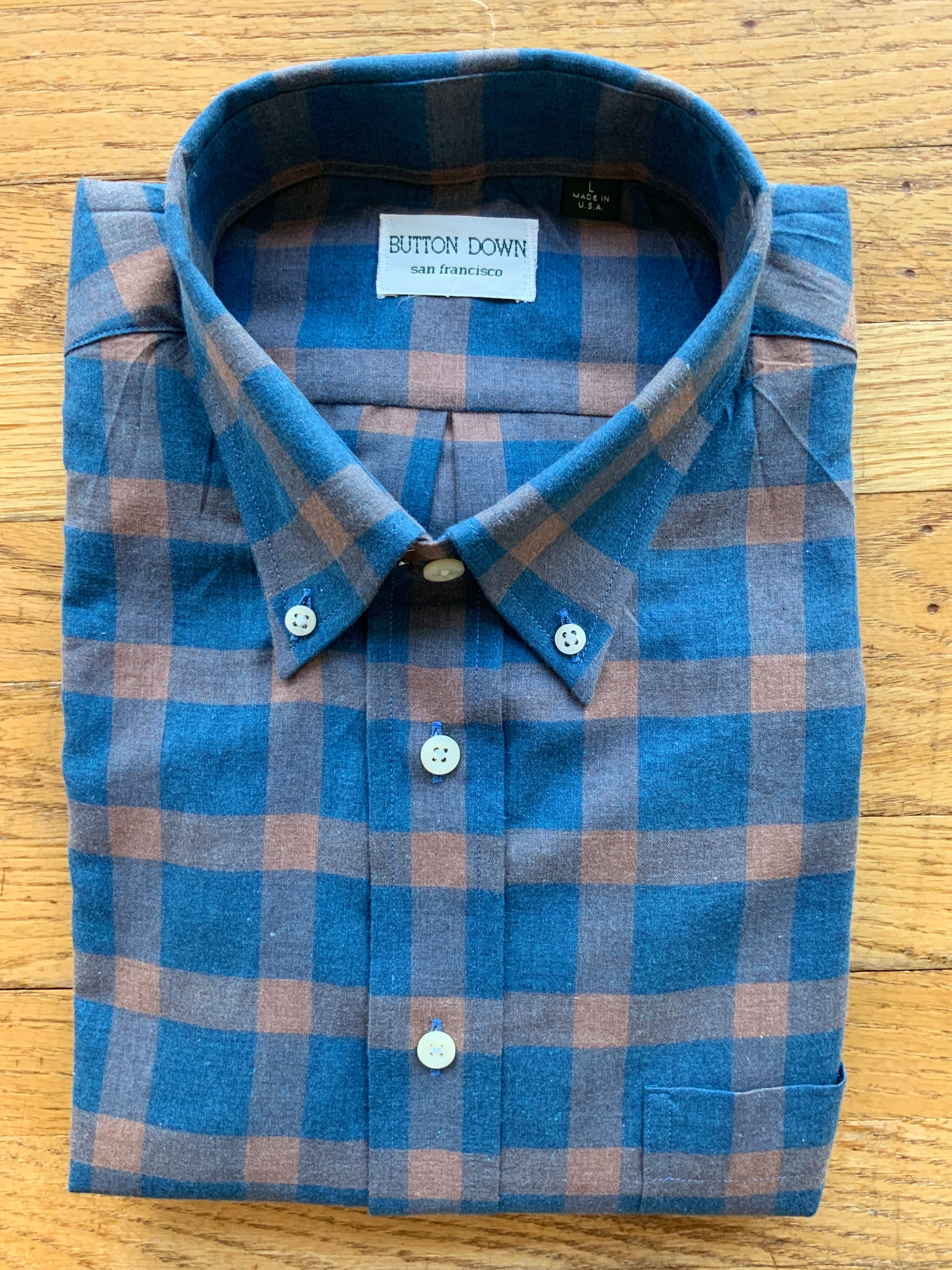 Steel Blue Check Sport Shirt (4580417667149)