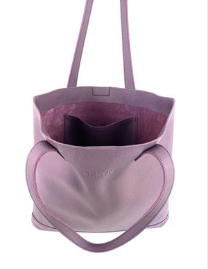 ORSYN MAGAZINE TOTE BAG - PURPLE