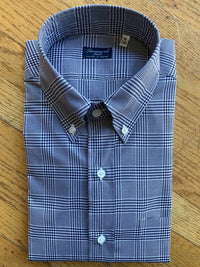 Finamore Navy Plaid Shirt (4577106133069)
