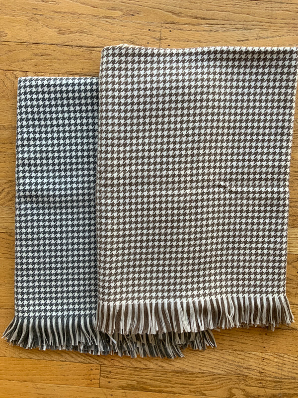 Wool Mini-Houndstooth Throw - 2 COLOR OPTIONS (4623017148493)