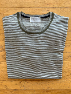 MEN'S CREW NECK STRIPE SWEATER (4592008396877)