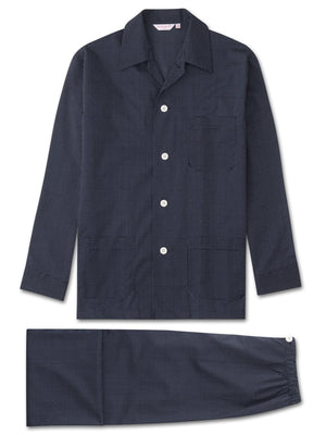 DEREK ROSE PLAZA MEN'S PAJAMA SET - NAVY