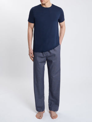 DEREK ROSE BRAEMAR 32 MEN'S TROUSER - NAVY