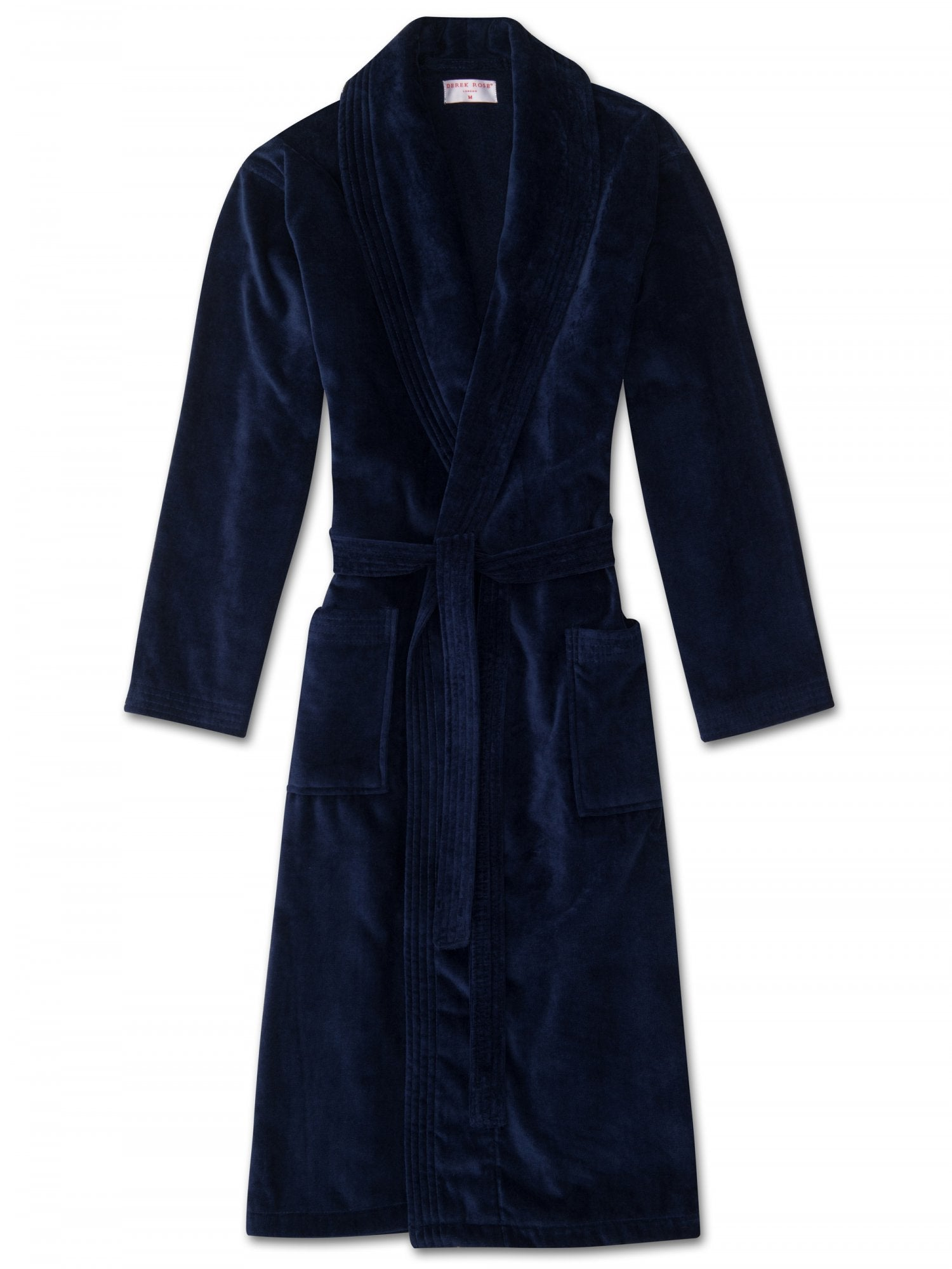 DEREK ROSE TRITON 10 MEN'S ROBE - NAVY