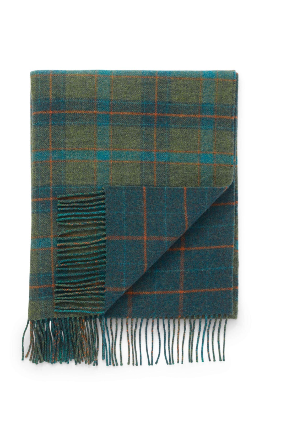 JOHNSTONS OF ELGIN BRIGHT CHECK / DARK CHECK LAMBSWOOL WOVEN THROW
