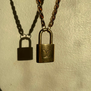 Louis Vuitton Lock and Key Reworked Necklace + Bracelet Set