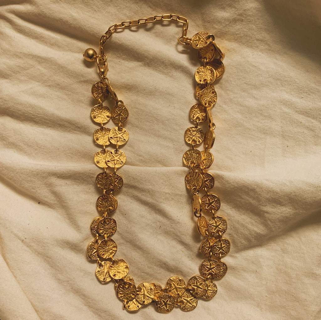 Gold Sand Dollar Layered Necklace - Shop Vanilla Vintage