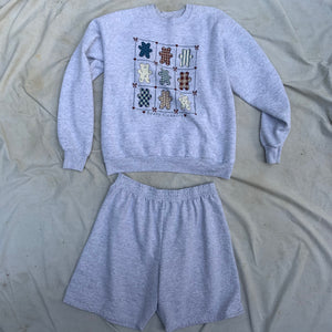 'Faizah' Country Chic Sweatshirt and Short Co-Ord Set (One Size)