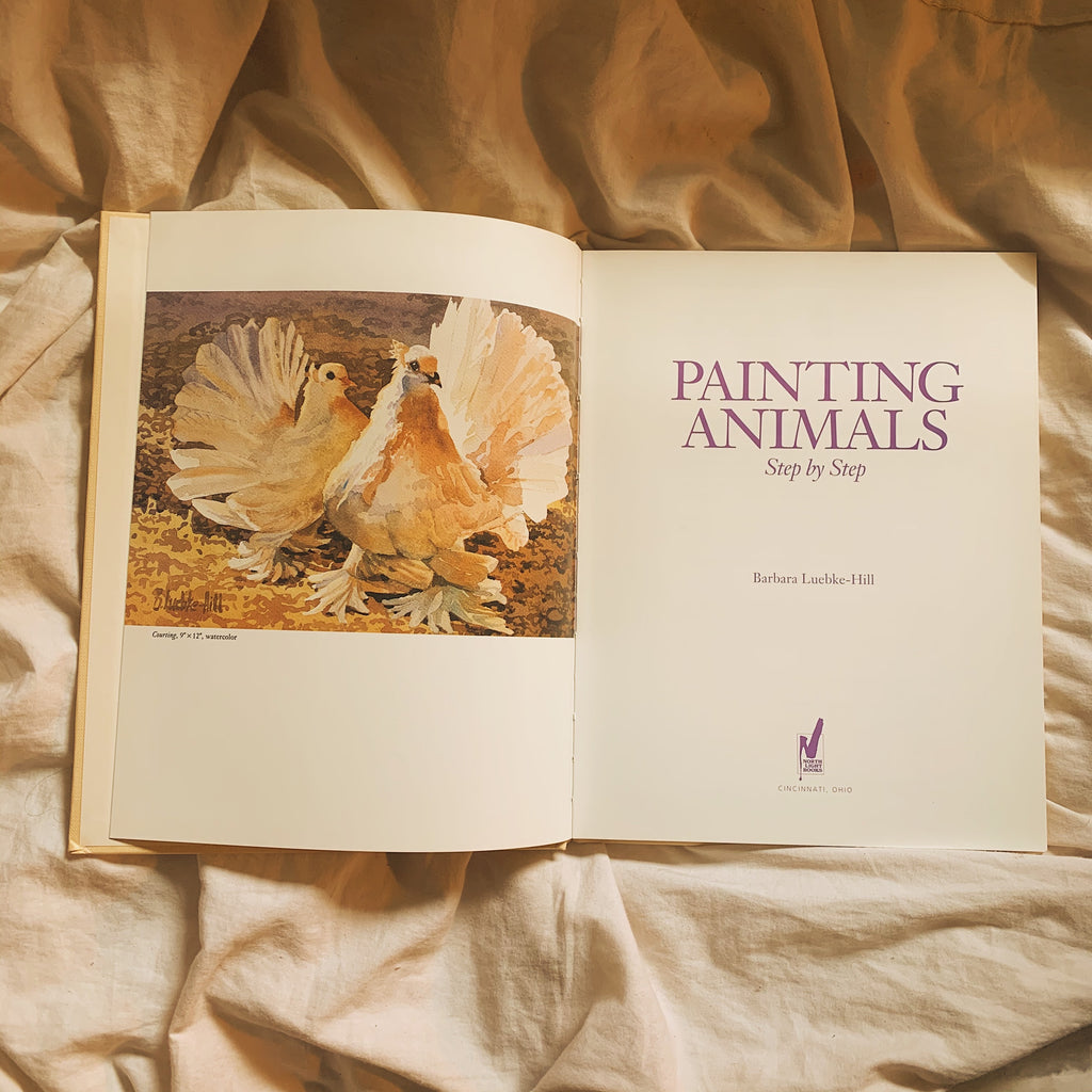 "Vintage Coffee Table Book - ""Painting Animals Step-By-Step"" (1992) - Shop Vanilla Vintage"