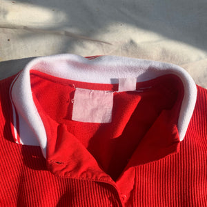 'Marlene' Red Collared Rugby Sweater (S-XL)